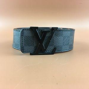 Preowned LV Damier Graphite 40mm Initials Belt